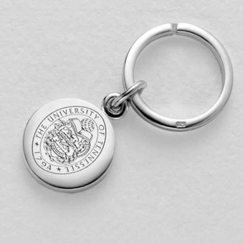 615789166702: Tennessee Sterling Silver Insignia Key Ring