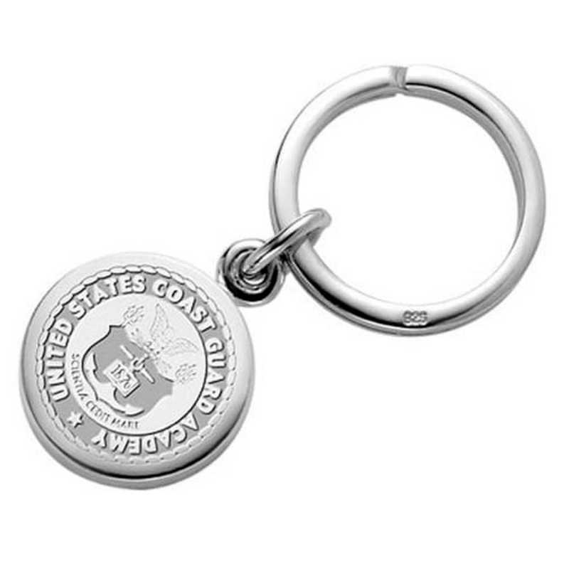 615789192442: Coast Guard Academy Sterling Silver Insignia Key Ring