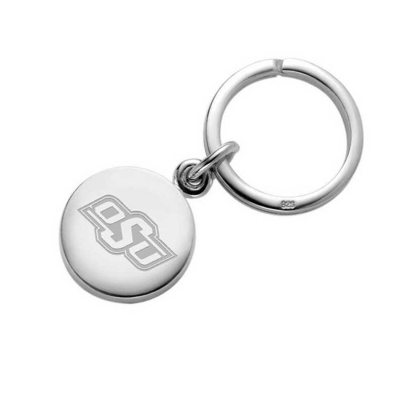 615789201434: Oklahoma State University Sterling Silver Insignia Key Ring