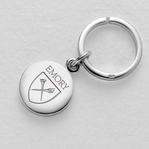 615789266051: Emory Sterling Silver Insignia Key Ring