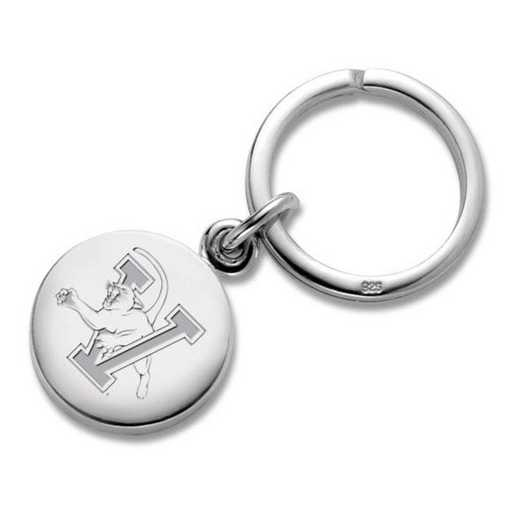 615789304289: UVM Sterling Silver Insignia Key Ring