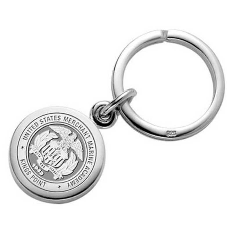 615789313762: Merchant Marine Academy Sterling Silver Key Ring