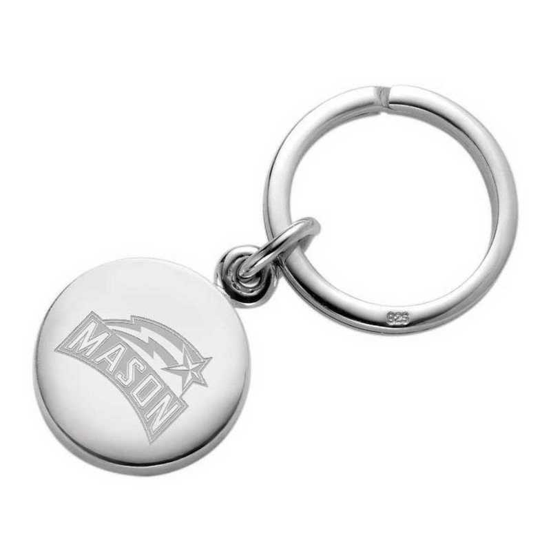 615789316954: George Mason University Sterling Silver Insignia Key Ring