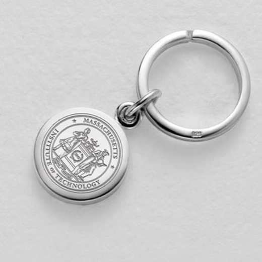 615789328261: MIT Sterling Silver Insignia Key Ring