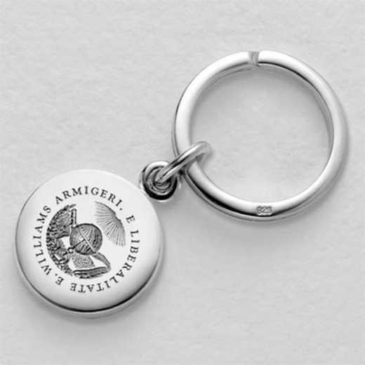 615789328971: Williams College Sterling Silver Insignia Key Ring