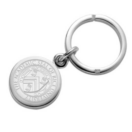 615789456353: Rice University Sterling Silver Insignia Key Ring