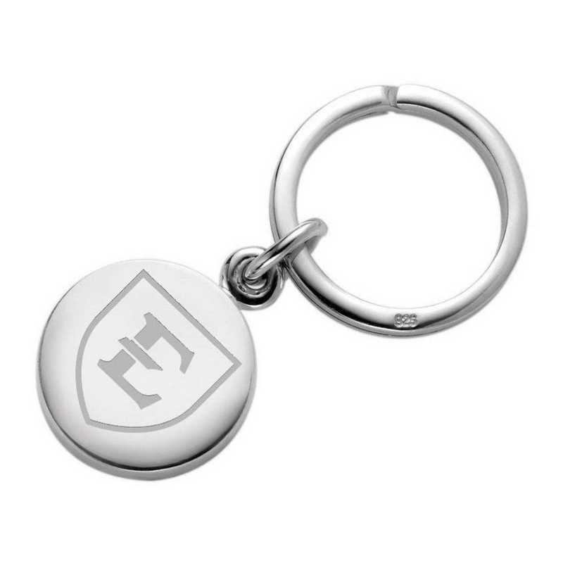 615789468752: East Tennessee State University Sterling Silver Insignia Key Ring
