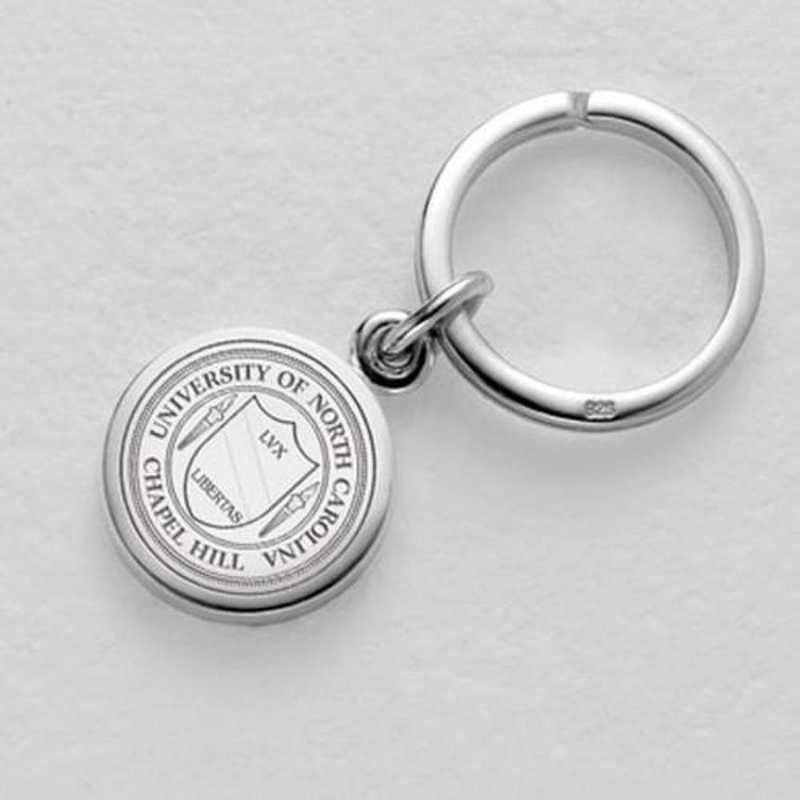 615789512837: UNC Sterling Silver Insignia Key Ring