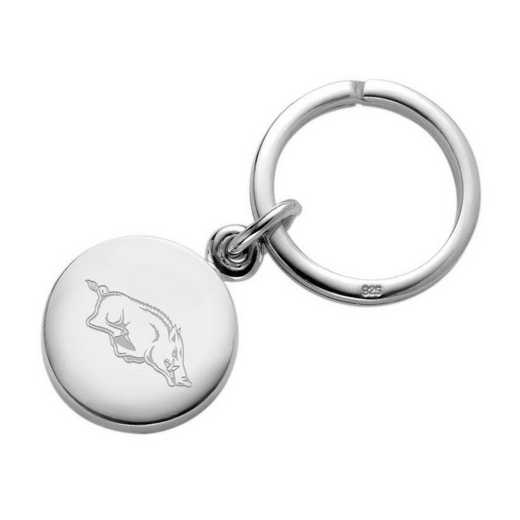 615789539742: University of Arkansas Sterling Silver Insignia Key Ring