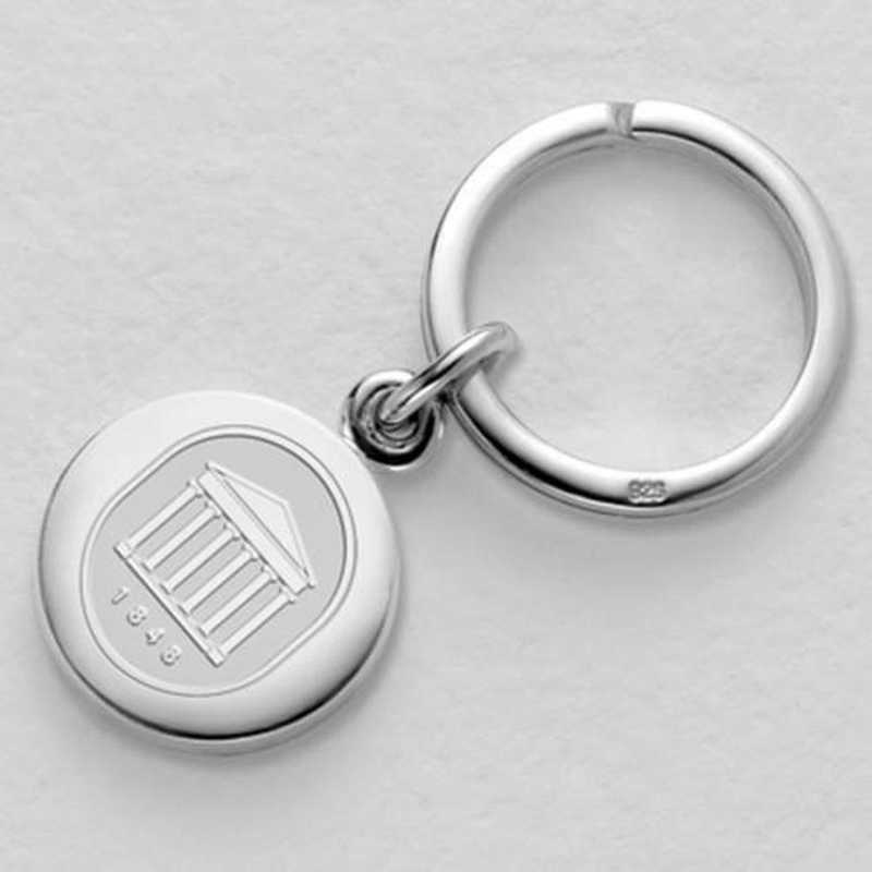 615789587941: Ole Miss Sterling Silver Insignia Key Ring