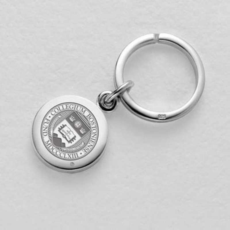 615789649502: Boston College Sterling Silver Insignia Key Ring