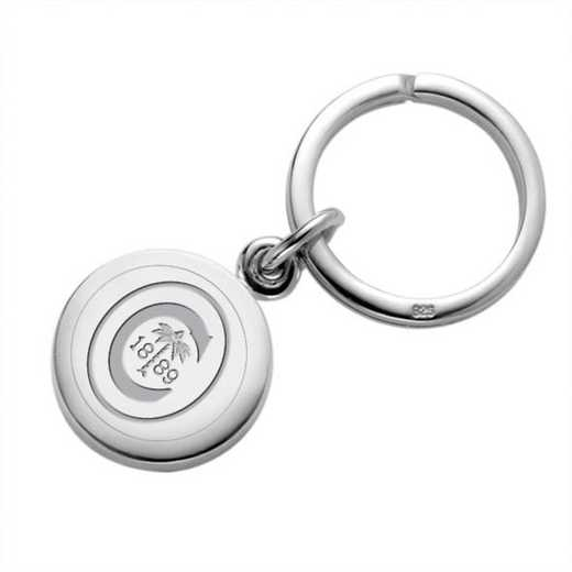 615789696377: Clemson Sterling Silver Insignia Key Ring