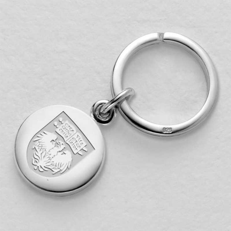 615789696476: Chicago Sterling Silver Insignia Key Ring