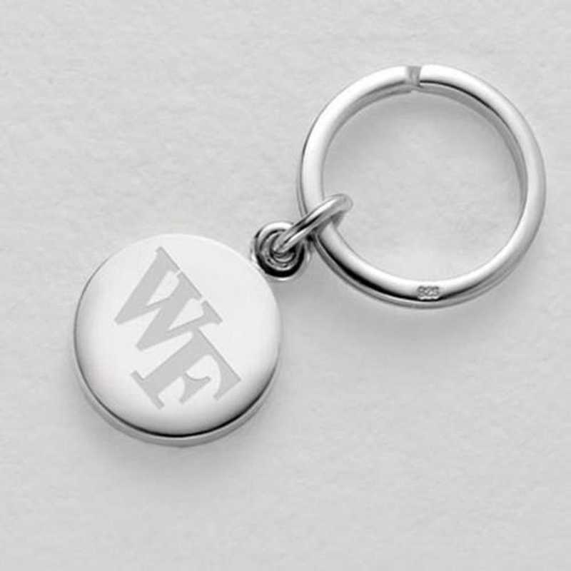615789714002: Wake Forest Sterling Silver Insignia Key Ring