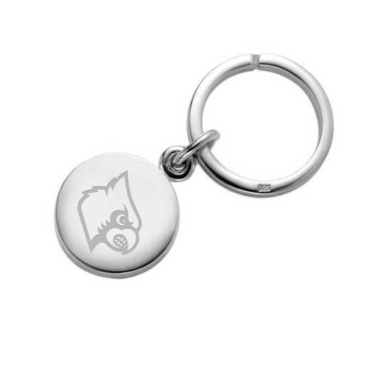 615789872528: University of Louisville Sterling Silver Insignia Key Ring