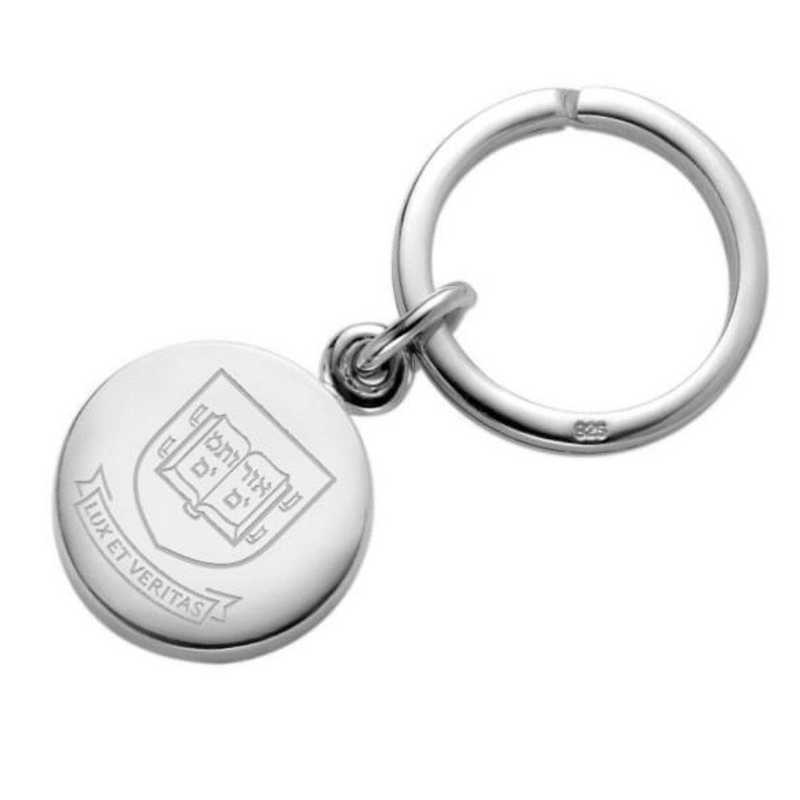 615789910213: Yale Sterling Silver Insignia Key Ring
