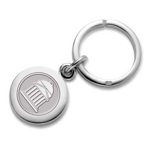 615789910664: SMU Sterling Silver Insignia Key Ring