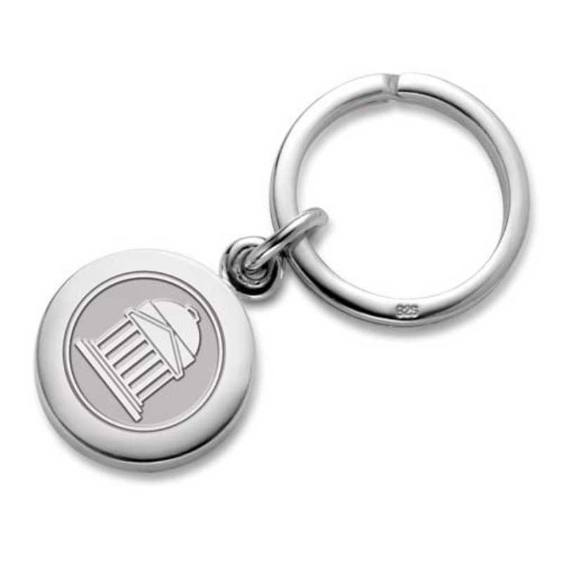 615789910664: SMU Sterling Silver Insignia Key Ring