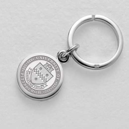 615789938675: Pittsburgh Sterling Silver Insignia Key Ring