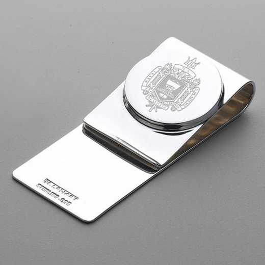615789074519: Naval Academy Sterling Silver Money Clip
