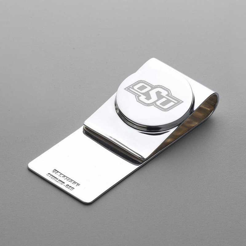 615789260561: Oklahoma State University Sterling Silver Money Clip