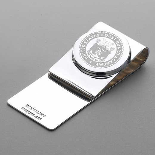615789297079: Coast Guard Academy Sterling Silver Money Clip