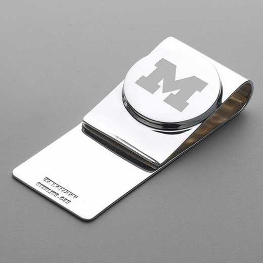 615789475668: Michigan Sterling Silver Money Clip
