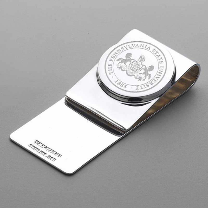 615789480266: Penn State Sterling Silver Money Clip