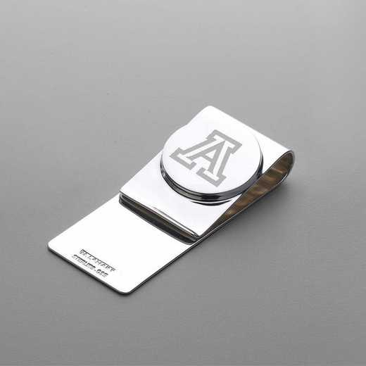 615789495406: University of Arizona Sterling Silver Money Clip