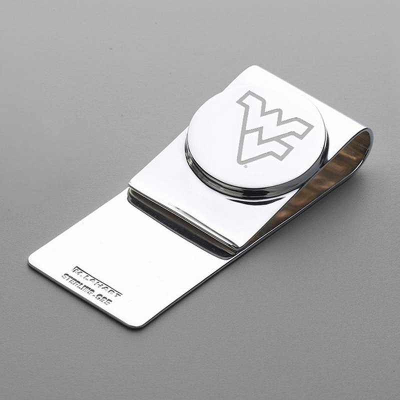 615789572589: West Virginia University Sterling Silver Money Clip