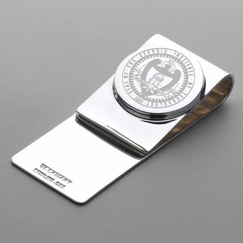 615789662792: Georgia Tech Sterling Silver Money Clip