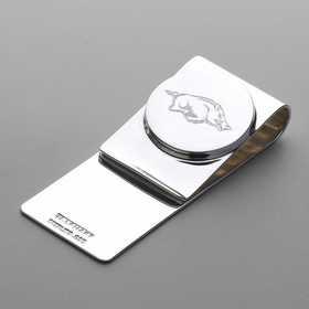 615789683407: University of Arkansas Sterling Silver Money Clip