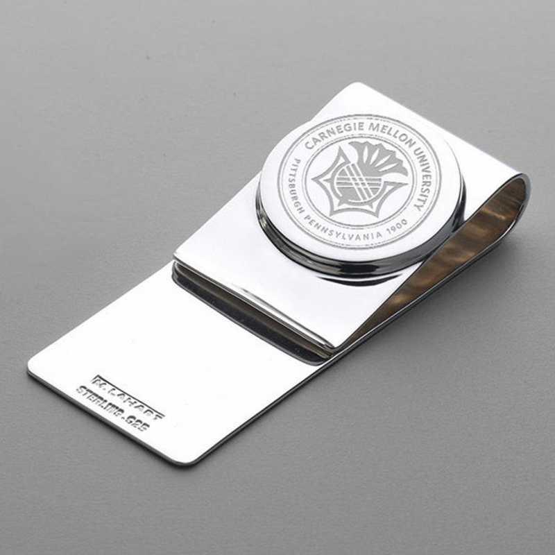 615789703150: Carnegie Mellon University Sterling Silver Money Clip