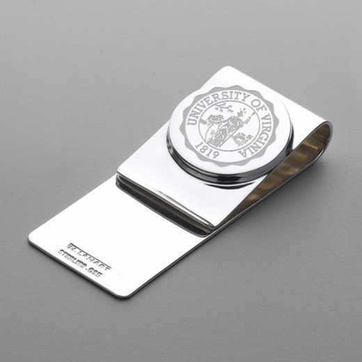 615789891871: University of Virginia Sterling Silver Money Clip
