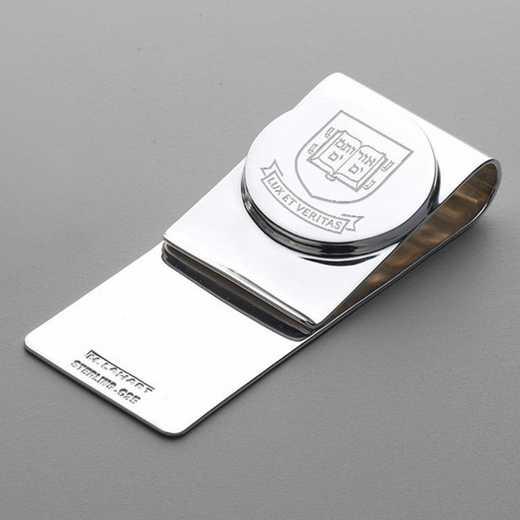 615789910206: Yale Sterling Silver Money Clip