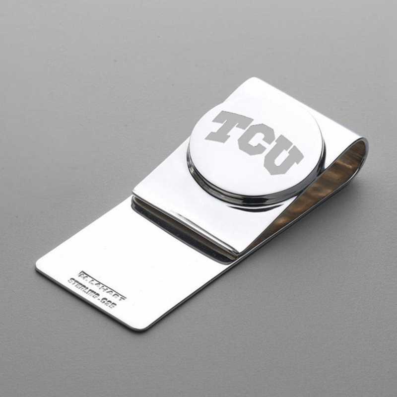 615789910749: TCU Sterling Silver Money Clip