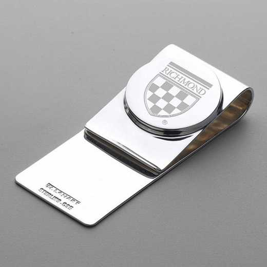 615789912248: University of Richmond Sterling Silver Money Clip