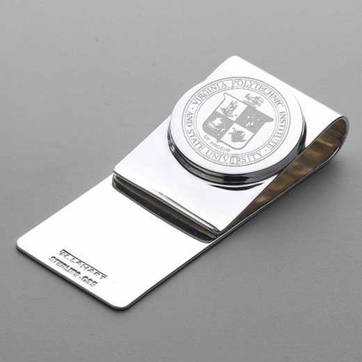 615789920984: Virginia Tech Sterling Silver Money Clip
