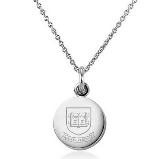 615789022442: Yale University Necklace with Charm in SS