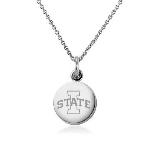 615789219224: Iowa State University Necklace with Charm in SS