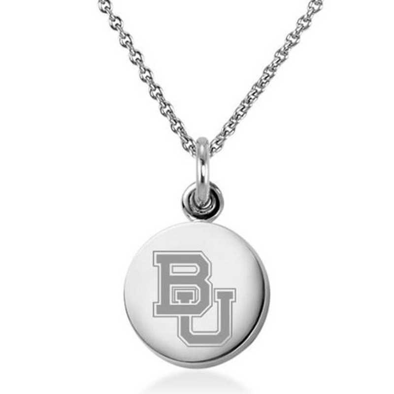 615789228899: Baylor University Necklace with Charm in SS