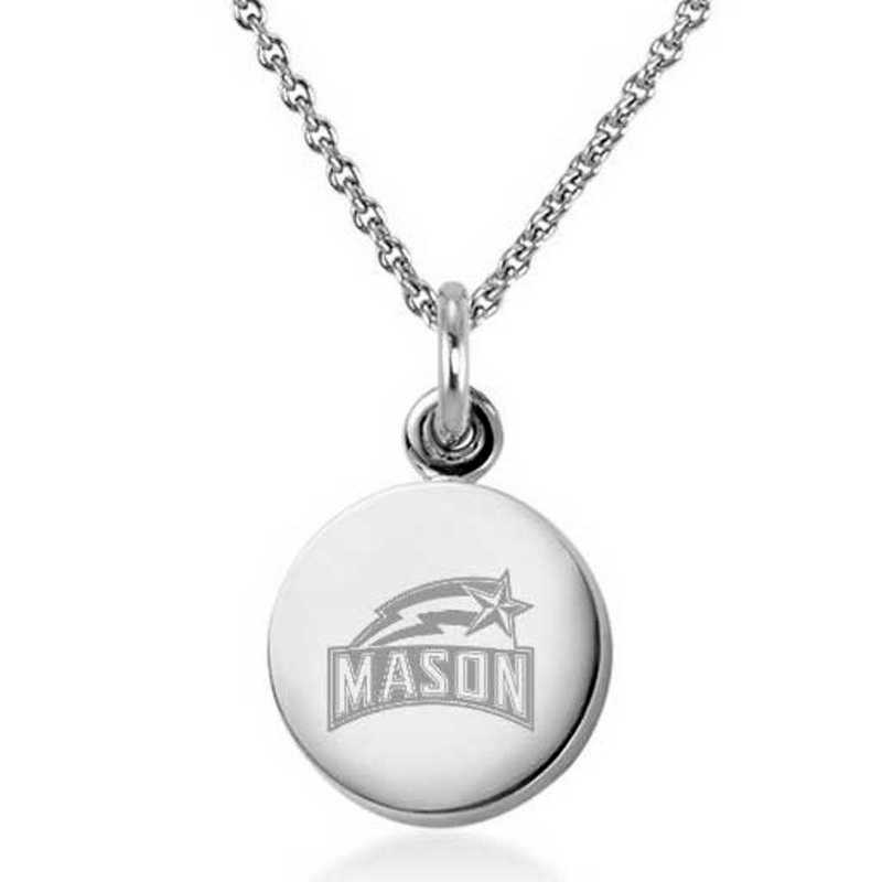 615789231363: George Mason University Necklace with Charm in SS