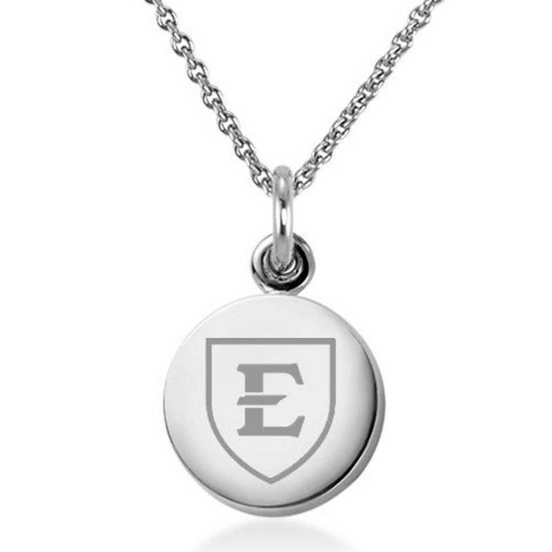 615789283812: East Tennessee State University Necklace with Charm in SS
