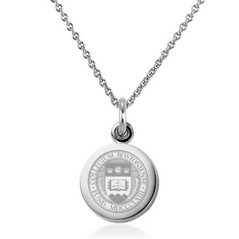 615789316107: Boston College Necklace with Charm in SS