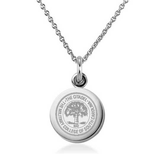 615789393450: Citadel Necklace with Charm in SS