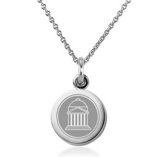 615789444473: Southern Methodist University Necklace with Charm in SS