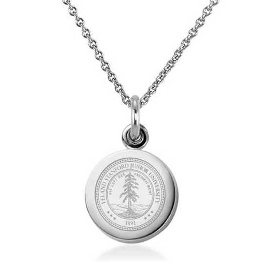 615789486671: Stanford University Necklace with Charm in SS