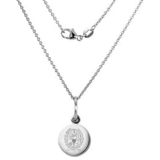 615789487906: Georgetown University Necklace with Charm in SS