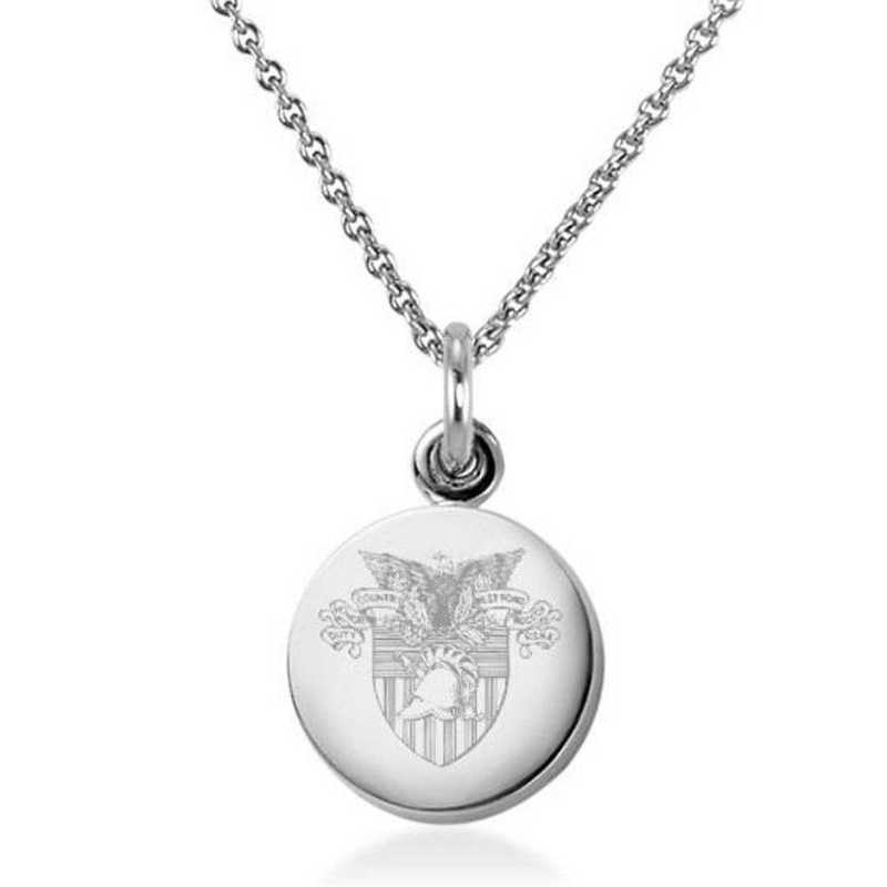 615789488842: US Military Academy Necklace with Charm in SS