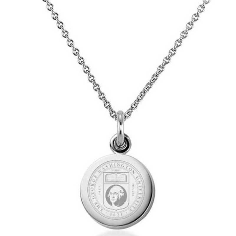 615789558279: George Washington University Necklace with Charm in SS